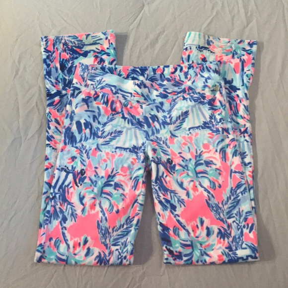 c0f4a7b8b7a31e Lilly Pulitzer Pants - Lilly Pulitzer Velour Pants - Cabana Cocktail
